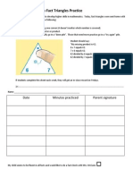 multiplication facts practice sheet
