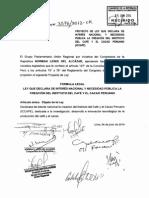 (PL) Creación del Instituto del Café y el Cacao Peruano