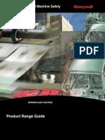 MICRO SWITCH Honeywell Sensing Limit Switch Machine Safety Range Guide 001033 11 En