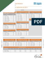 Tasas Cuentas de Ahorros Helm 1 Al 30 de Septiembre CS4