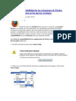 Fuerza La Compatibilidad Addons de Firefox