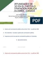 OPORTUNIDADES DE NEGOCIO EN EL CAPÍTULO DE CONTRATACIÓN PÚBLICA TLC COLOMBIA - CANADÁ