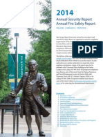 Annual Security and Fire Safety Report 2014