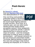Towards a Post-heroic Warfare