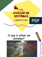 ANÁLISE E PROJETO DE SISTEMAS I PARTE