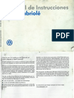 Manual de Usuario Golf Mk1 Cabriolet
