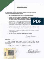 03-25-14 Declaracion Jurada No Estructuras en El Radio Altura Mas 10% - Lluveras