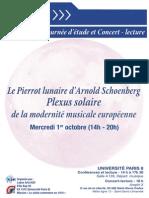 Flyer Pierrot Lunaire