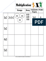 multiplication concept chart worksheet