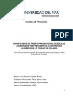 Tesis Significados de Participación Social Desde Las Juventudes Pertenecientes a CCAA de Calama - Luis Gonzalo Catalán Arenas