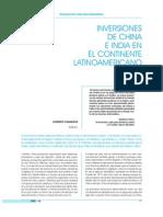 Inversiones China India en Americalatina