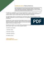 Certificación de Los Tableros Electricos