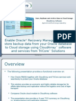 Enable Oracle® Recovery Manager (RMAN) to store backup data from your Oracle database to Cloud storage using CloudArray™ software and services from TriCore™ Solutions