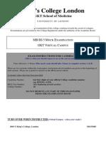KCL MED Mock Exam 0304