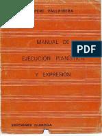 Manual de Ejecución Pianística y Expresión-Pere Vallribera