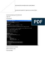 Sacar Respaldo de La Base de Datos Del Servidor Alcatel