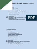Neoplasias Benignas y Malignas de Cabeza y Cuello