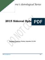 2015 Sidereal Ephemeris