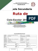 Ruta de Mejora 2014-2015, TEC 85