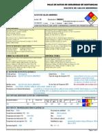 Sulfato de Calcio Anhidrido -----Hds Formato 13 Secciones, Qmax
