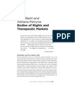 BIEHL & PETRYNA. Bodies of Rights and Therapeutic Markets