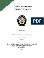 Laporan Praktikum Teknologi Bahan Febrianto