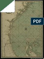 Carta de La Costa de America Del Norte