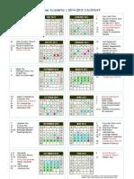 aesa 2014-2015 calendar