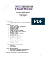 Class Council Meeting Minutes