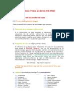 Desarrollo de La Asignatura FM 2014 II