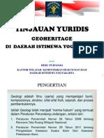 Geoheriage Oleh HERU PURNOMO, Kanwil KemenkumHAM DIY