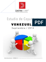 Datincorp INFORME ESTUDIO DE COYUNTURA VENEZUELA SEPTIEMBRE 2014 1.pdf