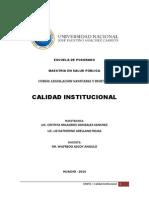 Exposicion II - Calidad Institucional