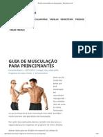 Guia de Musculação Para Principiantes - Musculacao