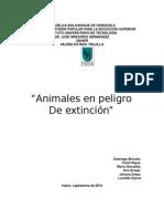 Trabajo de Especies en Peligro