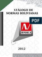 Catalogo de Normas Bolivianas 2012-2