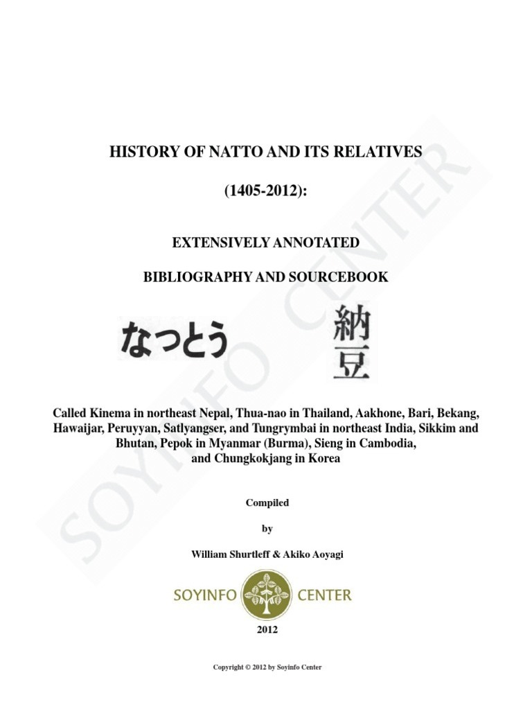 0b8a9d3c6 History of Natto and Its Relatives