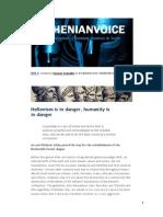 Hellenism is in Danger, Humanity is in Danger