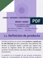 Equipo 1. Productos y Servicios
