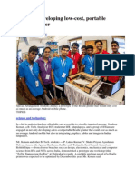 Students Developing Low-cost Portable Braille Printer