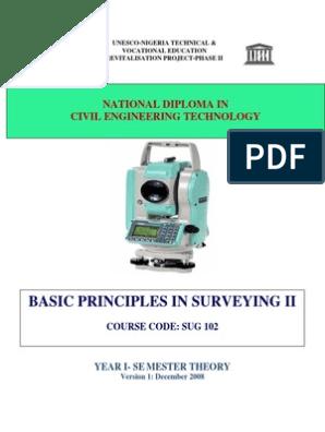 Basic Principles In Surveying Ii: National Diploma In Civil