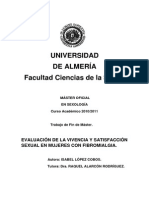 Evaluacion de La Vivencia y Satisfacción Sexual en Mujeres Con Fibromialgia Isabel Lopez Cobos