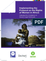 Implementing the Protocol on the Rights of Women in Africa