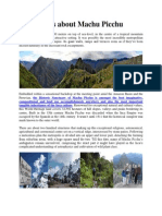 Facts about Machu Picchu