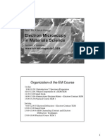 Electron Microscopy in Material Science