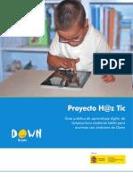 Guía Práctica de Aprendizaje Digital de Lectoescritura Mediane Tablet Para Alumnos Con Síndrome de Down