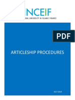 CIFP Articleship Procedures
