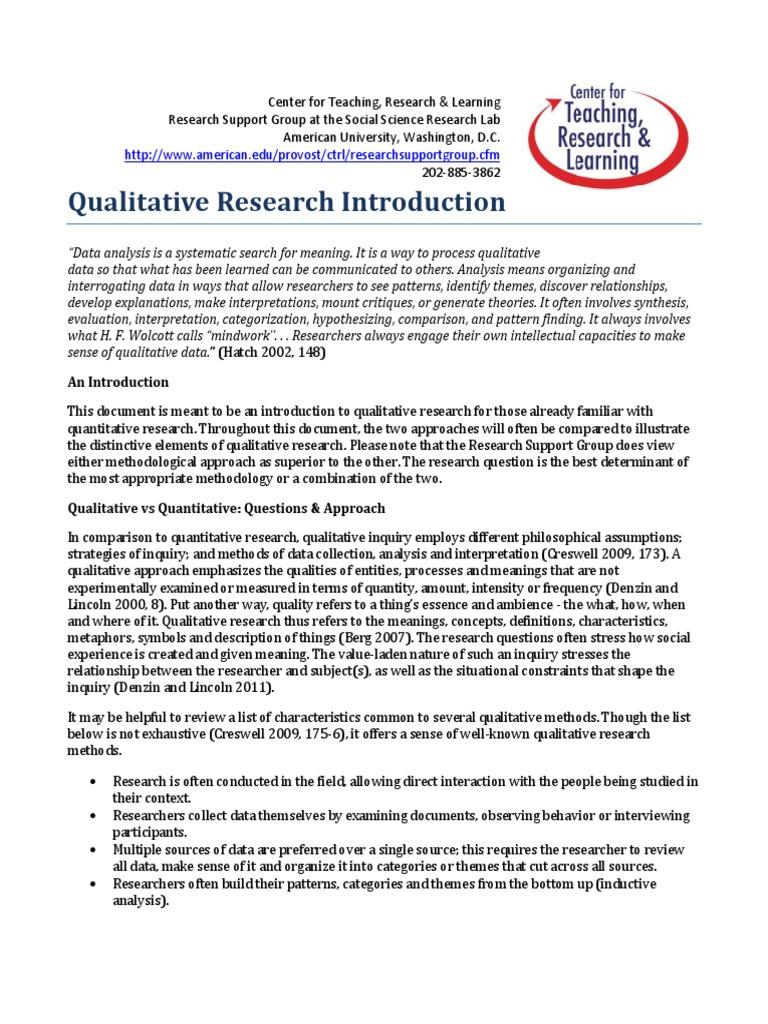 worksheet Qualitative Vs Quantitative Worksheet qualitative research introduction quantitative research