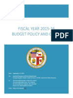 City of Los Angeles FY15-16 Budget Policy Letter