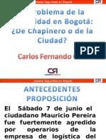 Problema de La Seguridad en Bogota de Chapinero o de La Ciudad